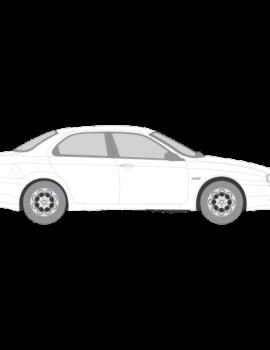 Alfa 156 Sedan ikkunakalvot