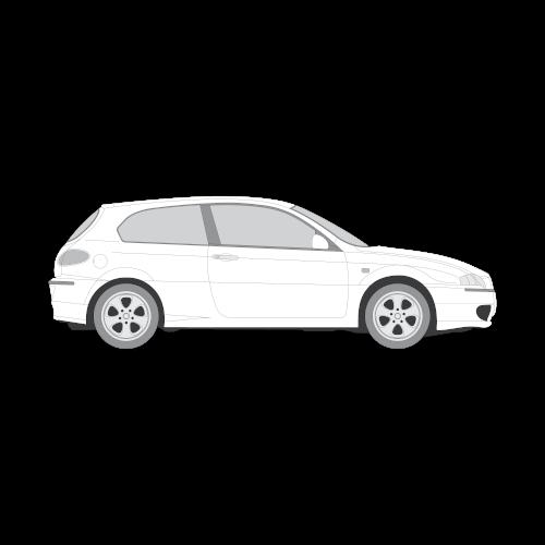 Alfa Romeo 147 muotoonleikatut tummennuskalvot