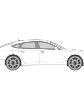Audi A7 ikkunakalvo