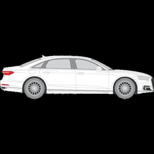 Audi A8 muotoonleikatut tummennuskalvot