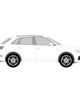 Audi Q3 muotoonleikattu tummennuskalvo