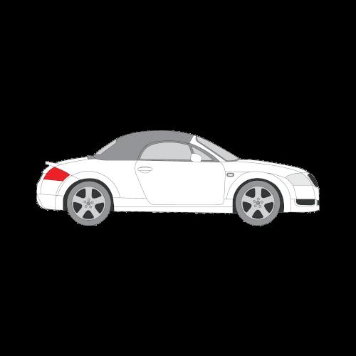 Audi TT avomalli tummennuskalvot