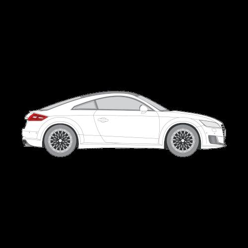 Audi TT Coupe muotoonleikatut tummennuskalvot