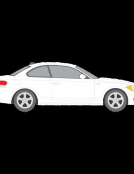BMW 1-Sarja coupe tummennuskalvot