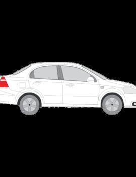 Chevrolet Aveo sedan tummennuskalvot