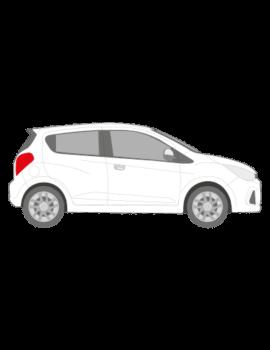 Chevrolet Spark muotoonleikatut tummennuskalvot