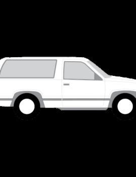 Chevrolet Tahoe 3-ovinen tummennuskalvot