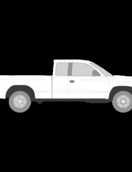 Dodge Dakota Club Cabin tummennuskalvot