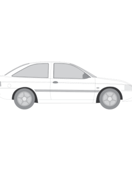 Ford Escort hatchback tummennuskalvot