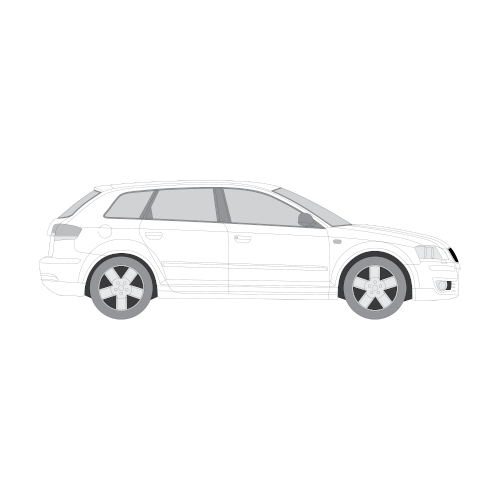 Audi A3 Sportback auringonsuojakalvot